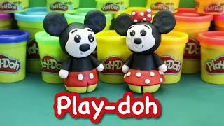 How to make the cutest Mickey Mouse and Minnie Mouse with Play-Doh