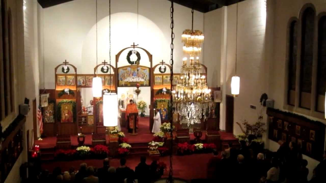 Julian Calendar Christmas Liturgy in Serbian Orthodox Church, Washington D.C. (6-1-2012).