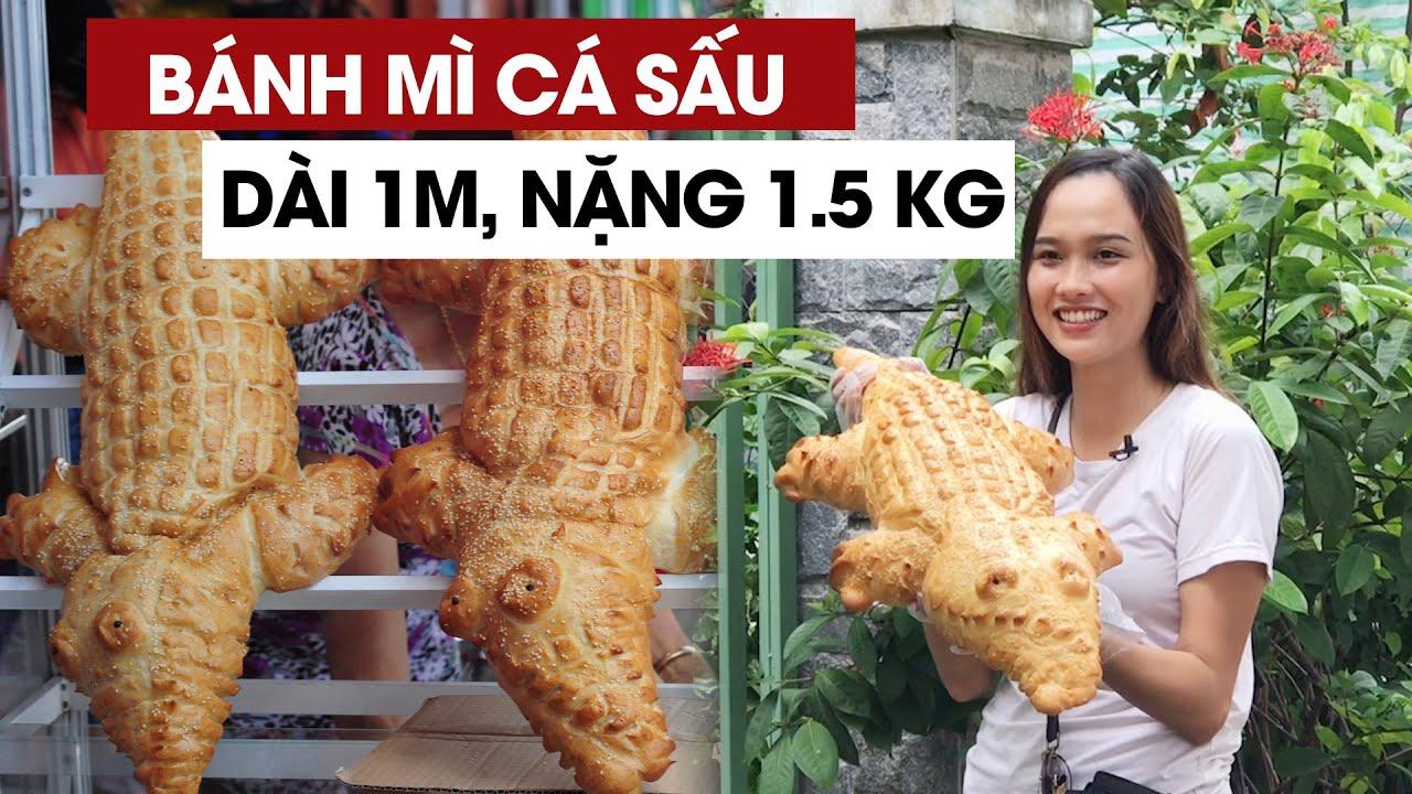 Bánh mì cá sấu khổng lồ gây bão mạng ở miền Tây