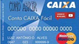 COMO ABRIR CONTA CORRENTE CAIXA DIGITAL