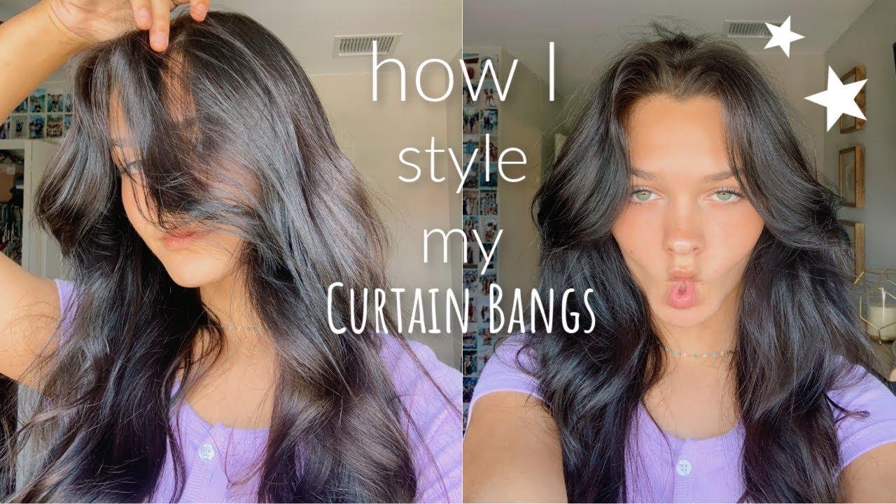 I got curtain bangs! How do I style them?