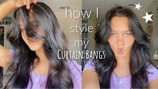 I got curtain bangs! H๐w do I style them?