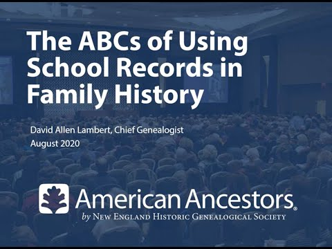 The ABCs Of Using School Records In Family History Research