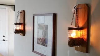 Off Grid Lighting! DIY Wall Oil Lamp And Practically Pretty For Momma