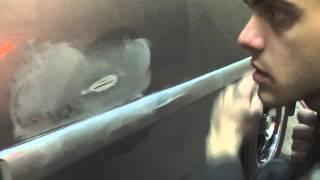 Смотреть видео царапина до металла на машине