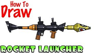 How to Draw the Rocket Launcher | Fortnite
