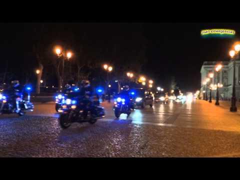 Escoltas (Motorcades) Visita de Estado a España de la Presidenta de Chile