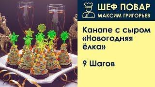 Канапе с сыром Новогодняя ёлка . Рецепт от шеф повара Максима Григорьева