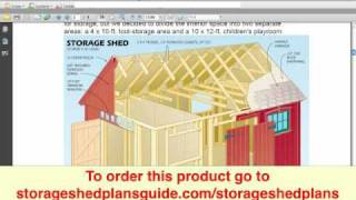 Storage Shed Plans - My Shed Plans Elite Review