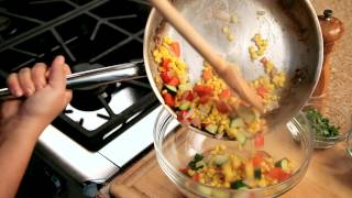 How To Make Corn Avocado Salad - #10 - Transferring The Vegetables To A Bowl — Appetites®
