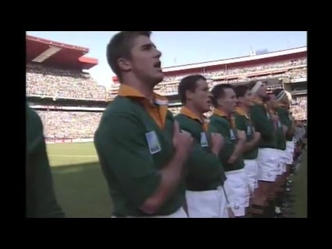 Anthem: South Africa sing passionately at RWC 1995