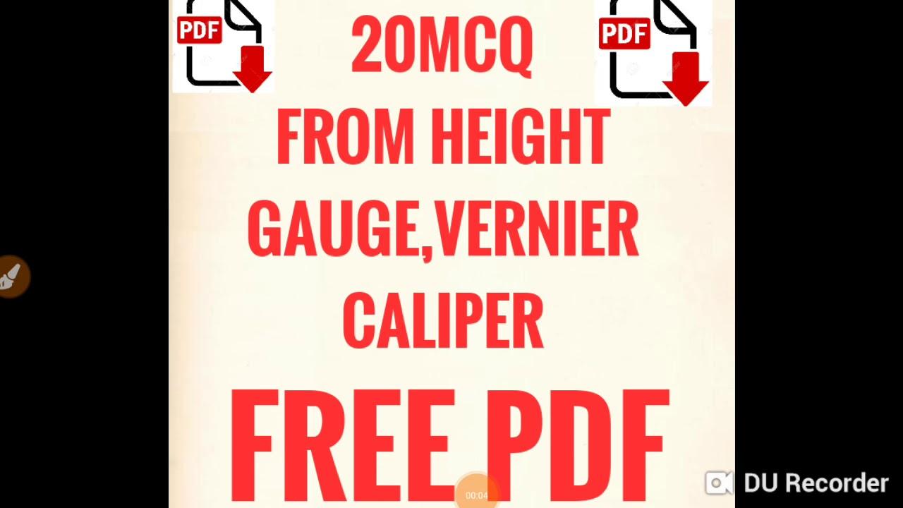 Questions from vernier height gauge and vernier caliper