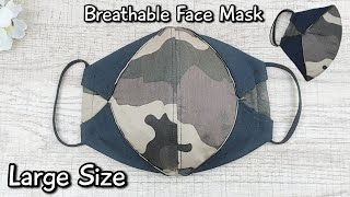 Breathable Face Mask New Design How to make face mask Large size Face mask sewing tutorial