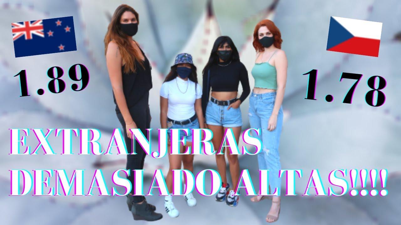 Download MEXICANOS reaccionan a EXTRANJERAS ALTAS  I Experimento social I Checa en México