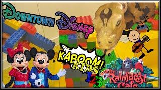 [Kaboom Kids 123] Downtown Disneyland x Rainforest Cafe x LEGO Store, Live Music and Animatronics 🎠