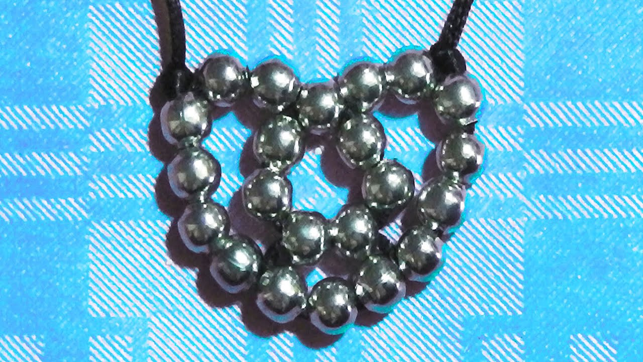 how to make a heart with beads crafts for san valentine lovers ...