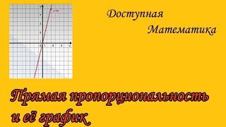 Прямая пропорциональность и её график