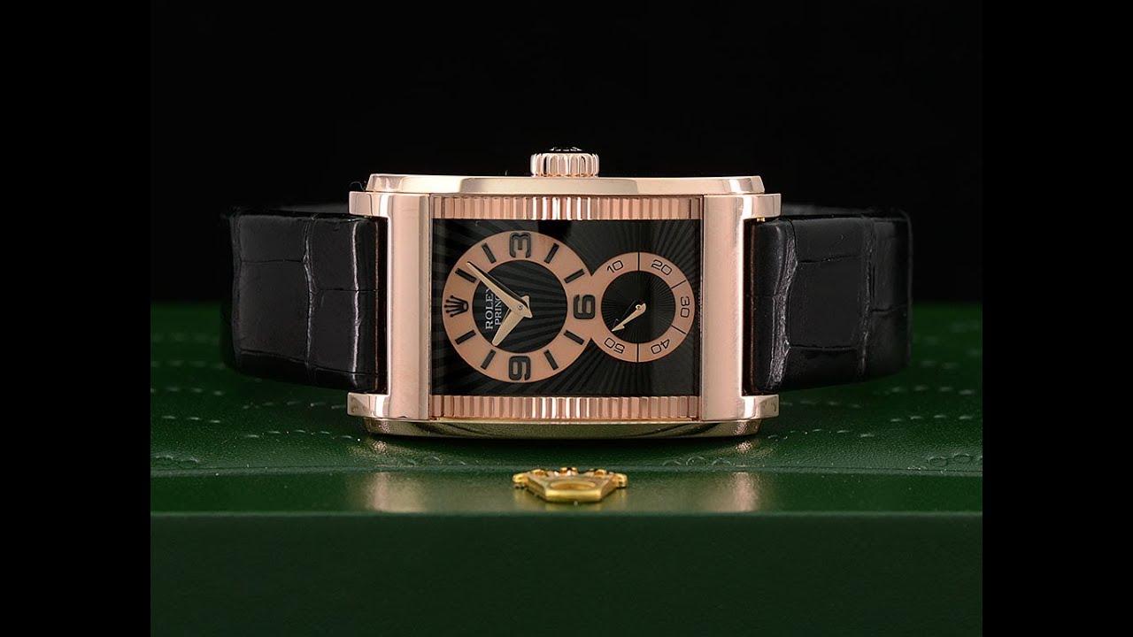 Rolex Mens Cellini Rolex Prince 18k Rose Gold 5442 5 Watch