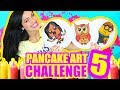 ME DIBUJO A Mi MISMA con COMIDA! Kawaii! Minion y Buho! Pancake Art Challenge RETO - SandraCiresArt
