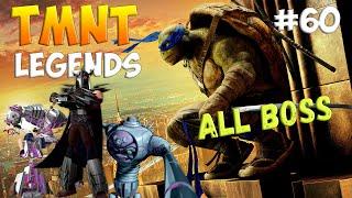 Черепашки-Ниндзя: Легенды. Прохождение #60 ALL BOSS FIGHT (TMNT Legends IOS Gameplay 2016)