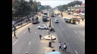 The view of Comilla Cantonment 3 way road