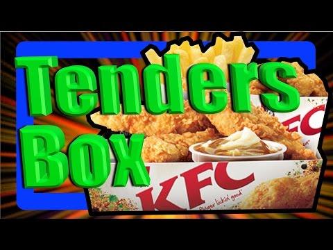 KFC Original Tenders Box Meal (3 Piece Fill Up) Taste Test