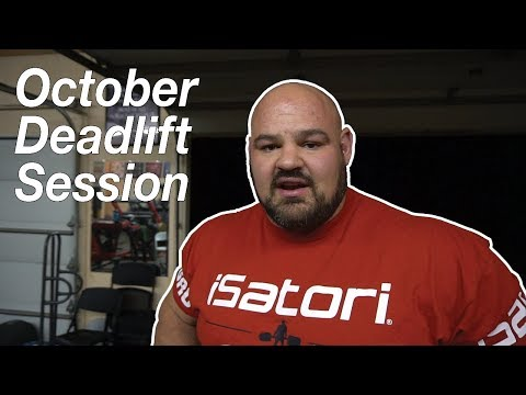 October Deadlift Session | Brian Shaw