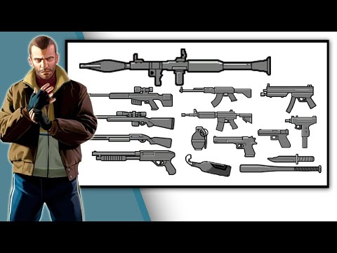 GTA 4 :  All WEAPONS!  How To Get GUNS?