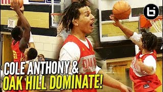Cole Anthony & Kofi Cockburn TRYING TO DESTROY RIMS at Oak Hill - Hargrave Scrimmage!