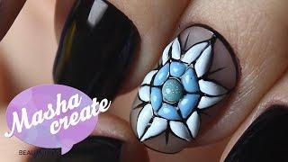 Зимний маникюр: Снежинки на ногтях. Объемный Дизайн ногтей гель краской PNB + ОБЗОР