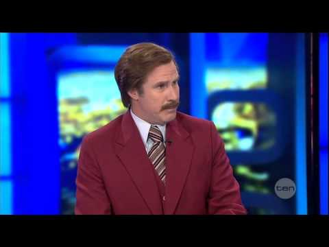 Anchorman Ron Burgundy guest appearance on The Project Australia