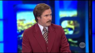 Video Anchorman Ron Burgundy guest appearance on The Project Australia download MP3, 3GP, MP4, WEBM, AVI, FLV November 2017