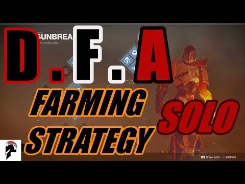 Destiny 2 - D.F.A Solo Farming Strategy - Titan's - Solo Prestige Nightfall - Tree Of Probabilities