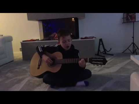 Lewis Simons age 9 - James Arthur Say you won't let go (cover)