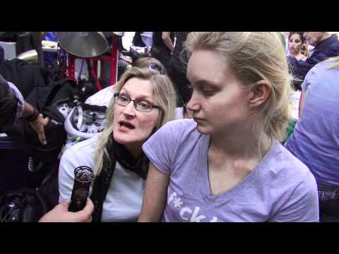 Occupy Wall Street with a Doctor and her daughter in Zuccotti Park