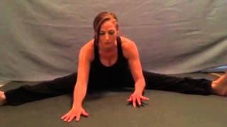 Wide-Angle Seated Forward Bend Yoga Pose