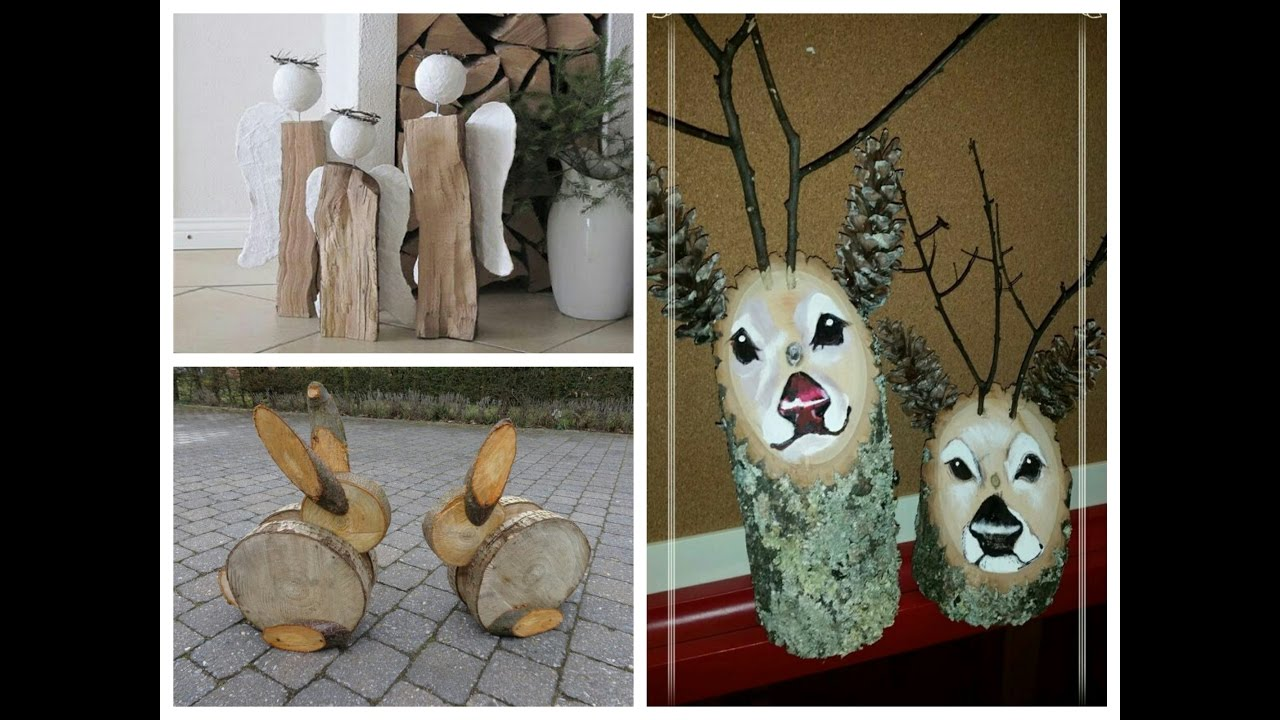 diy log decor ideas wooden christmas decorations