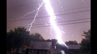 Lightning Strike kills power line WTF