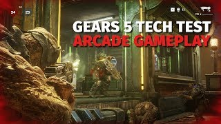 Gears 5 Arcade Tech Test Gameplay on District