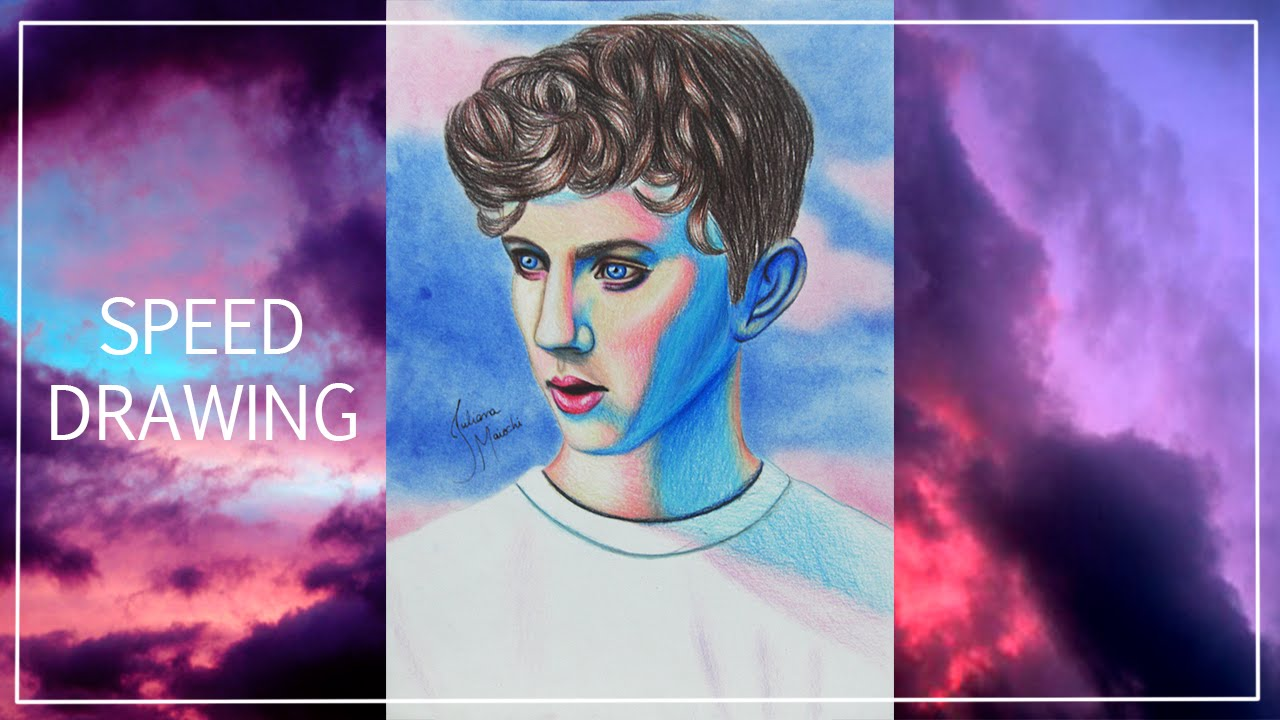 Speed Drawing of Troye Sivan | Juliana Maiochi - YouTube