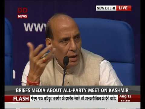 Govt briefs media about all party meet on Kashmir
