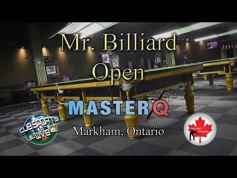 Mr. Billiard Open From Master Q In Markham, Ontario Snooker Canada Live Stream