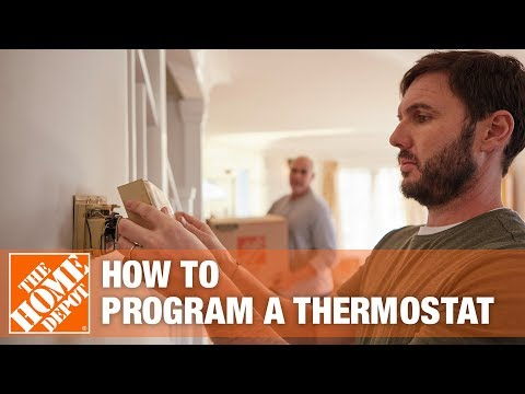 How to Program a Thermostat - The Home Depot - YouTube Honeywell Digital Thermostat Wiring Diagram Rth on