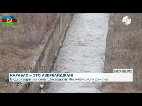 Видеокадры из села Шекерджик Физулинского района
