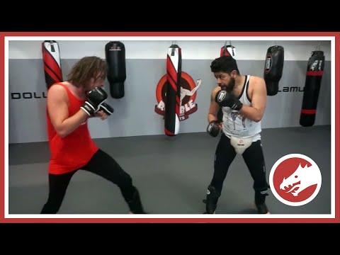 Friendly MMA sparring vs JKD fighter!