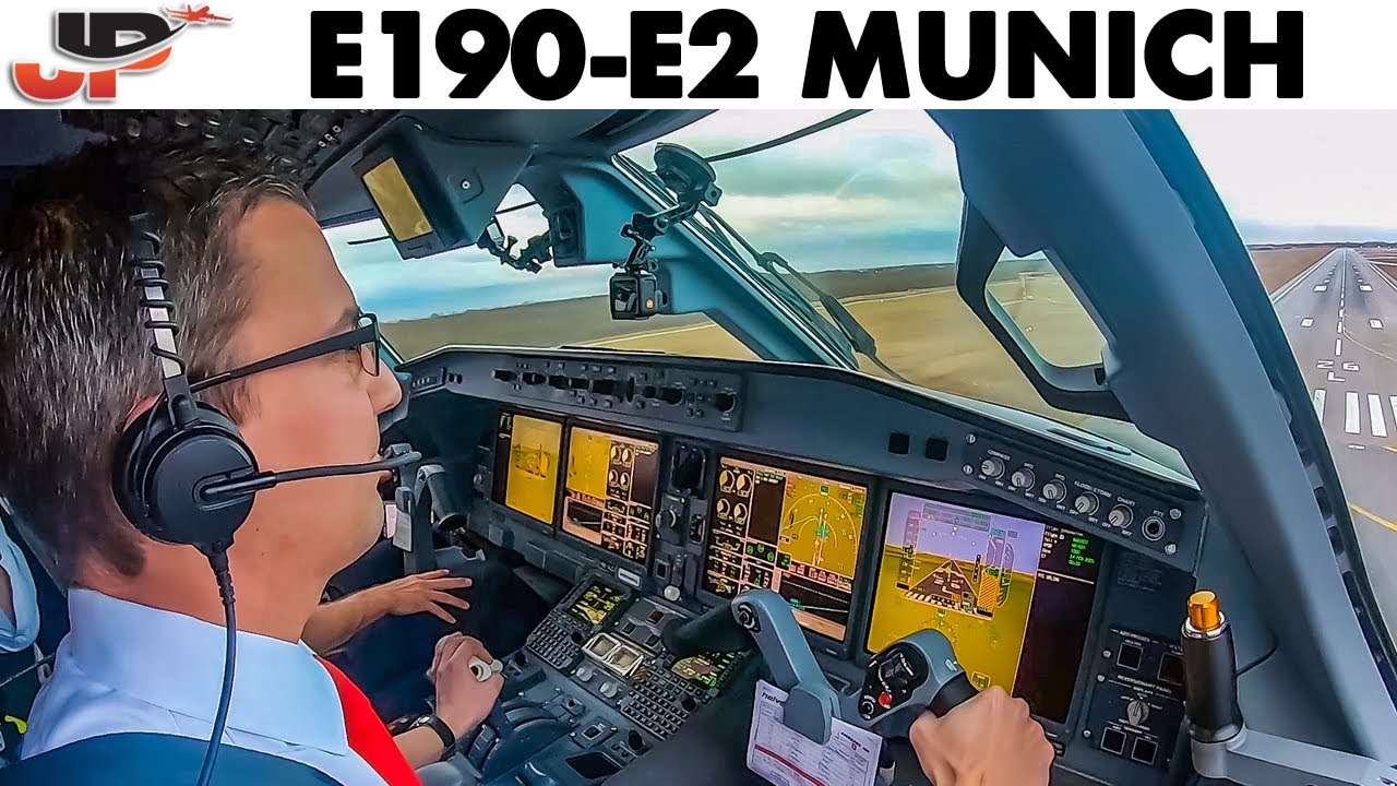 Piloting EMBRAER 190-E2 into Munich Airport | Cockpit Views