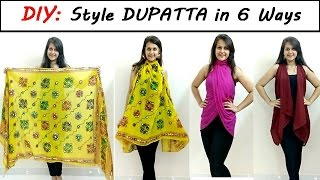 DIY: Style Dupatta in 6 Different Ways | Stylish top, shrug, kimono | Shirin Talwar