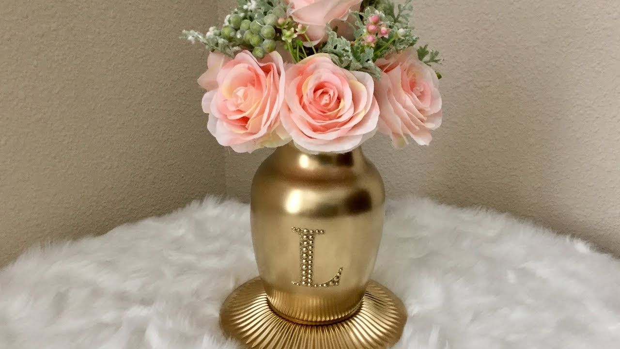Gold monogrammed vase with scented artificial flowers dollar tree gold monogrammed vase with scented artificial flowers dollar tree michaels hobby lobby reviewsmspy