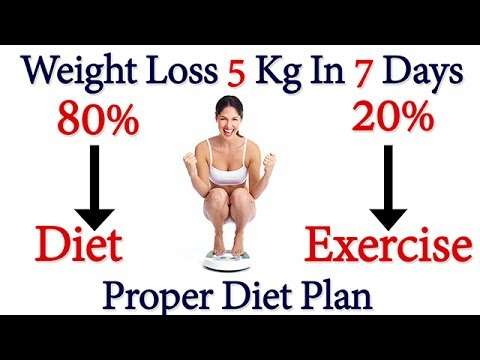 HOW TO LOSE WEIGHT FAST 5 Kg in 7 Days | Proper Full Day Diet Plan For Lose Weight, Lose Weight Fast