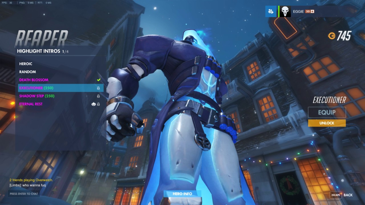 Overwatch Reaper Christmas Shiven Skin with Introduction, Emotion ...